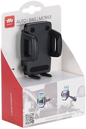 hr-imotion Universal Kopfstützen- und Motoradspiegelhalterung für alle Smartphones zwischen 42mm & 78mm Breite [5 Jahre Garantie | Made in Germany | 360 Grad drehbar | vibrationsfrei] - 23010001