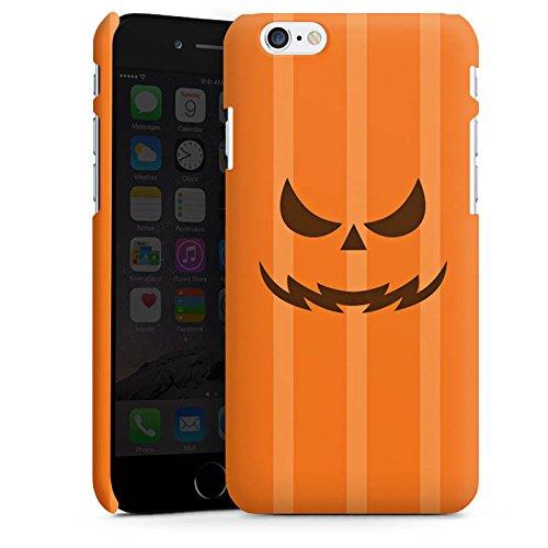 Apple iPhone 4s Silikon Hülle Case Schutzhülle Kürbis Gesicht Halloween Premium Case matt
