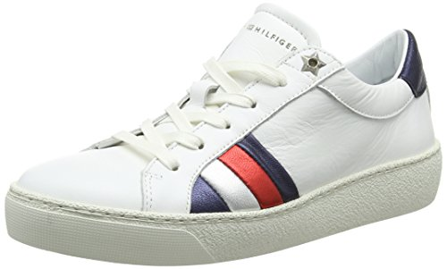 Tommy Hilfiger Damen Corporate Iconic Sneaker, Weiß (White 100), 40 EU
