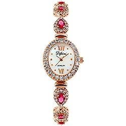 Fashion diamond women watch/Waterproof quartz Bracelet Watch/Simple casual watches-D