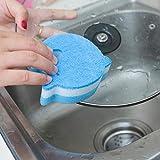 Anwaz Kreativer 2Stk Delphin Dekontamination Schwamm Reinigung Küche Geschirrtuch A01