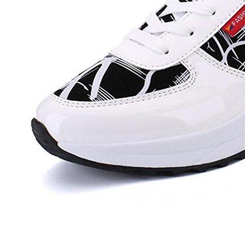 Mr. LQ - Casual Scarpe da corsa Moda traspirante Comfort DONNA White