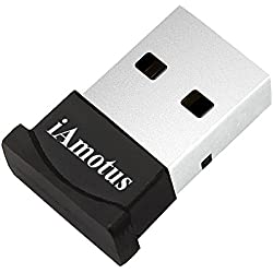 iAmotus Bluetooth Adaptateur, USB Bluetooth Adaptateur 4.0 + EDR sans Fil Adaptateur Plug&Play Mini USB Dongle pour PC, Ordinateur Portable, Windows 10/8/7/XP Vista, Casques/Clavier/Souris/Imprimante