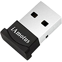 Adaptador de Bluetooth, iAmotus Bluetooth USB V4.0+ EDR Dongle Adaptador Inalámbrico Bluetooth para PC con Windows XP/7/8/10/Vista, Compatible con Auriculares, Altavoces, Teclados, Ratónes, Impresora