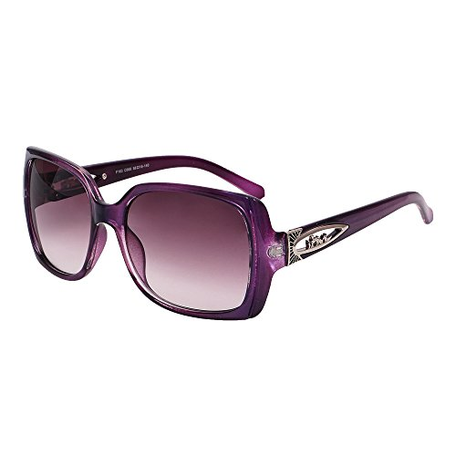 Stylen Vintage Collection Brown Lens Purple Frame Square Style Eyeglasses Sunglasses
