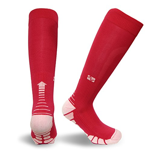 Vitalsox-VT1211-Graduated-Compression-Performance-Patented-Training-Race-and-Recovery-Socks-Pairs-with-DryStat-VT1211-M-Fucsia