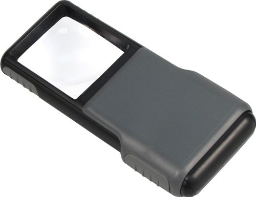 4-5x Lupe (Carson Optische 5x MiniBrite LED-beleuchteten herausschiebbare Asphärische Lupe mit Schutzhülle)