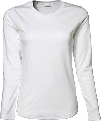 Ladies Maglia a maniche lunghe Interlock Maglietta Bianco