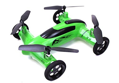 Syma X9 Flying Quadcopter Car Piddling Impulse of of the apprehension Car and Quadcopter Drone Unwitting of Verdant Colorway by SYMA