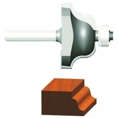 Vermont American 23149 5/32-Inch Radius Carbide Tipped Roman Ogee Router Bit, 1/2-Inch Ball Bearing 2-Flute 1/4-Inch Shank by Vermont American -