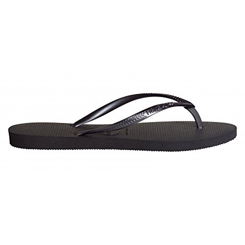 Havaianas Flip Flop/Thong/Sandal Slim, für Damen und Herren. Unisex. Schwarz