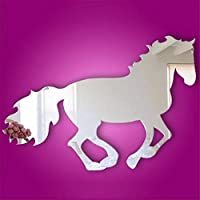 Harpily Galloping Horse Sticker DIY Mirror Wall Clock Wall Sticker Home Decoration for Bedroom Living Room