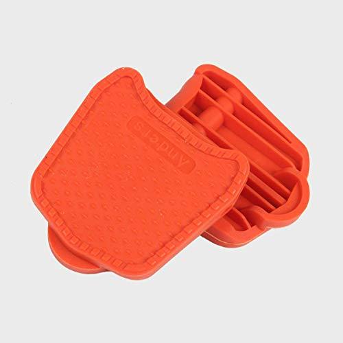 Chooee Clipless-Plattform Adapter Platten für Shimano Wellgo SPD Speedplay,orange