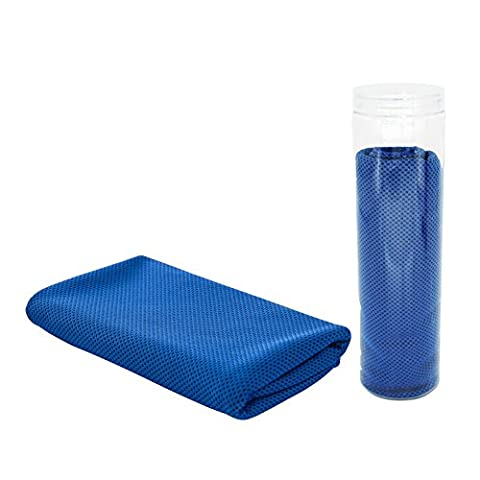 ZODIC Cooling Towel Super Absorbent Snap Cooling Towels for Sports and Fitness (Blue)