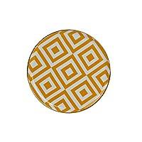 Porland Morocco Düz Tabak Desen4 Sarı 20cm, Porselen