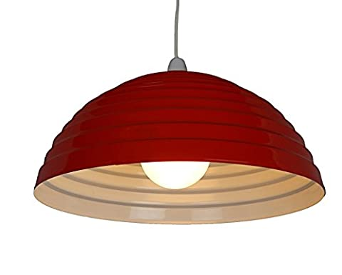 SP510-DR-40cm Large Red Dome Ceiling Pendant Shade.