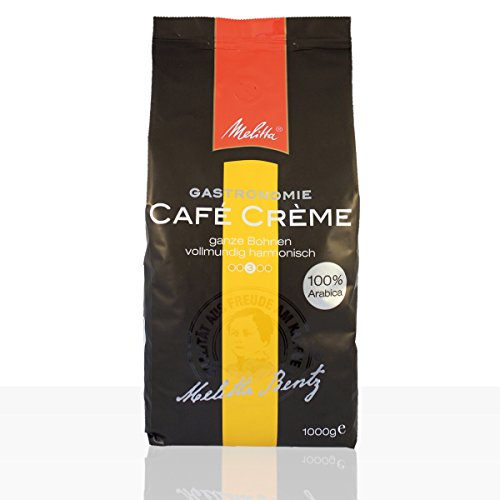 Melitta Gastronomie Café Crème 100% Arabica - 8 x 1kg ganze Kaffee-Bohne 1000 g