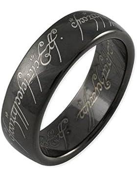 Schmucktrendzone Tungsten Ring, Herr der Ringe Schmuck, Der eine Ring, antiallergen, 6,5 mm, Nr. 900066