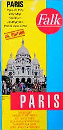 Falkplan plattegrond Parijs euro serie 214 por Falk-Verlag