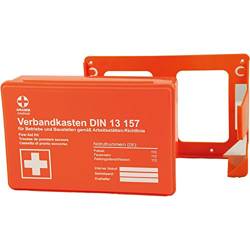 Gramm medical 418.035.01511 Betriebsverbandkasten, orange, 26 x 9 x 18 cm
