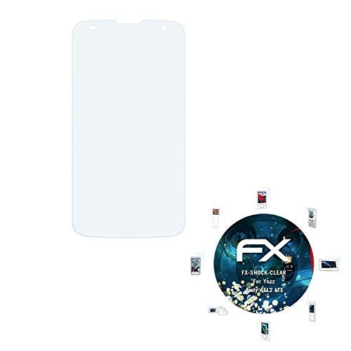 atFolix Schutzfolie kompatibel mit Yezz Andy 4EL2 LTE Panzerfolie, ultraklare & stoßdämpfende FX Folie (3X)