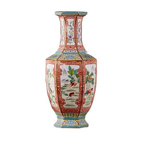 Oriental Style Serie - Große Bodenvase, China 12 Zodiac Symbolic Animals Früher Porzellandekoration für Zuhause, Jingdezhen, China