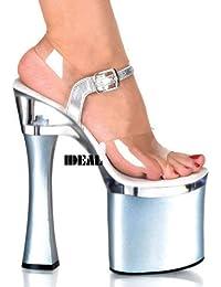 stade de 18 centimètres de talon de chaussures chaussures,black