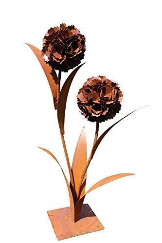 Unbekannt Pusteblume aus Edelrost   Deko-Blume aus Metall für den Garten   ca. Dm. H 120cm   1 Blüten (120cm 2 Blüten)