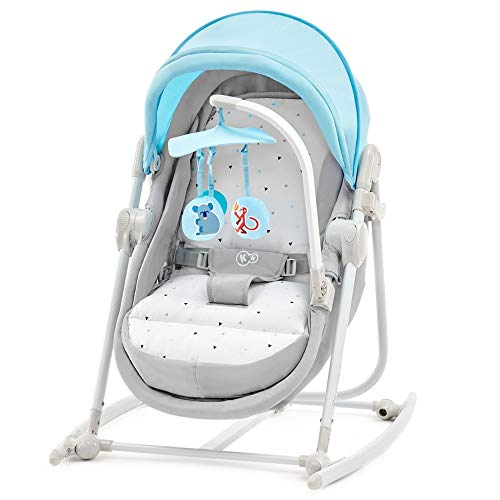 Kinderkraft Unimo Babywippe Babyschaukel Baby Wippe Liege Wiege Babysitz neue Kollektion (Hellblau) - Moderne Baby-wippe