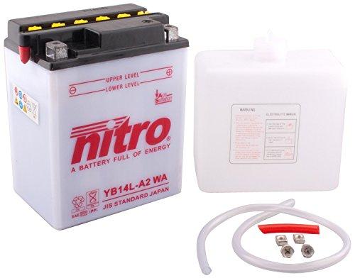 NITRO YB14L A2-N- WA-Batteria Moto aperto con acido Pack