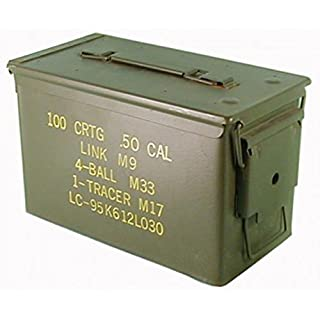 Original used ammunition box of the US Army for 300 cartridges 7.62 metal box Mun box container metal box