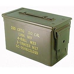 Munitions d'utiliser de l'armée américaine pour 300 x 7.62 Boîte métal Mun Boîte à boîte en métal