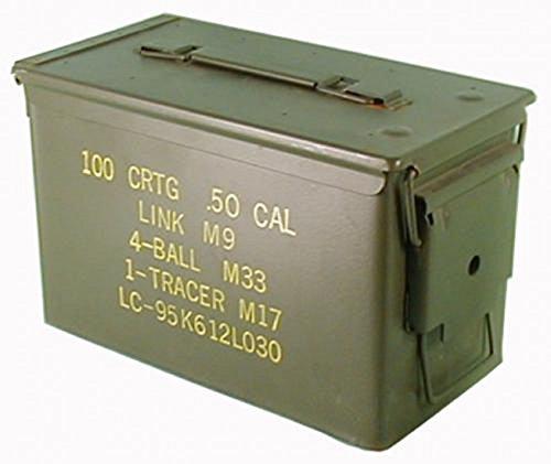 Originale la scatola di munizioni utilizzate esercito degli stati uniti per 300 calibro di cartucce 7,62 scatola di metallo casella di mun contenitore metallbox