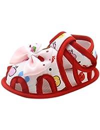 SHOBDW Casual Suela suave Zapatos Zapatillas para Bebé Niño Niña Sandalias de bowknot para 0-6 6-12 12-18 Meses