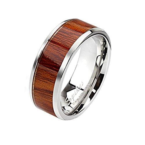 Paula & Fritz® Ring aus Edelstahl Chirurgenstahl 316L Band Ring Silber 6mm BRE.