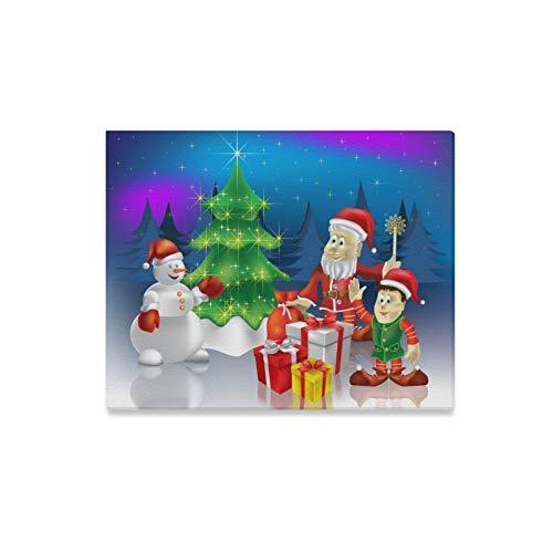 JOCHUAN Wandkunst Malerei Weihnachtsgruß Weihnachtsmann Geschenke Drucke Auf Leinwand Das Bild Landschaft Bilder Öl Für Moderne Dekoration Dekor Für Wohnzimmer -