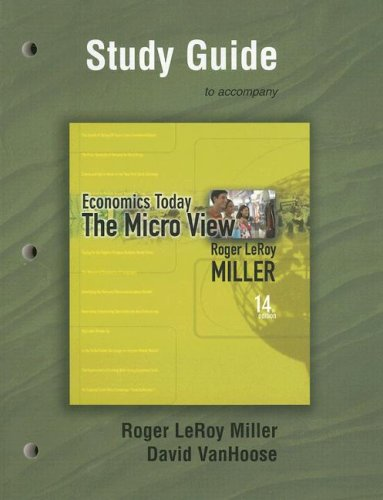 Study Guide for Economics Today: The Micro View PDF Books