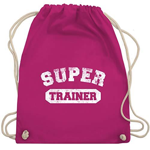 Fußball - Super Trainer Vintage - Unisize - Fuchsia - WM110 - Turnbeutel & Gym Bag - Traditionelle Trainer