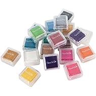 Papermania PMA 5521101 - Timbrini per stampare, con inchiostro di vari colori