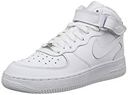 Nike AIR FORCE 1 MID (GS), Unisex-Kinder Sneakers, Weiß, 38.5 EU