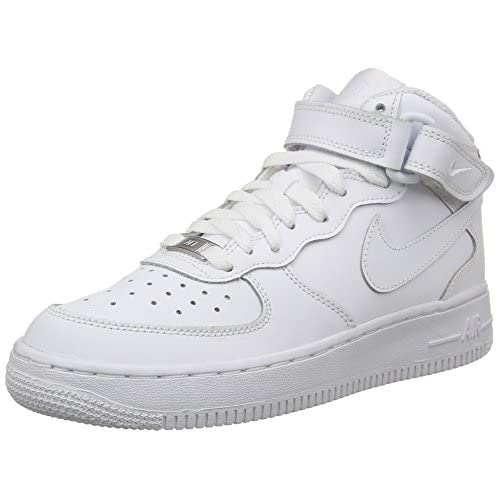 41ukf9pvLVL. SS500  - Nike Air Force 1 Mid (GS), Unisex Adults' Air Force 1 Trainers