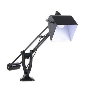 muno youri lampe de bureau en m tal noir hauteur 52cm luminaires et eclairage. Black Bedroom Furniture Sets. Home Design Ideas