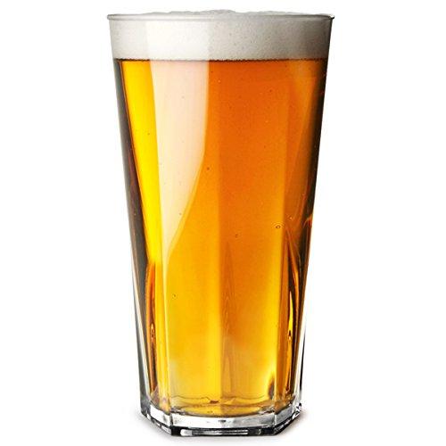 carbonat Hiball Gläser 12 oz/340 ml, 36/Longdrinkgläser aus Kunststoff, wiederverwendbar, Highball-Gläser, aus Kunststoff, wiederverwendbar, Polycarbonat, praktisch unzerbrechlich ()