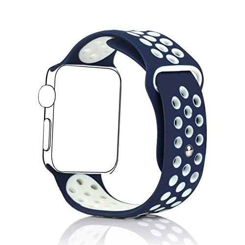 BillionGroup Replacement band for Apple Watch Nike+, Soft Silicone Sport Band for Apple Watch Series 1 and Series 2 Nike+,42mm