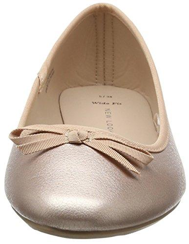 New Look Wf Laire-Leadin Toe, Ballerine Donna Oro (Rose Gold)