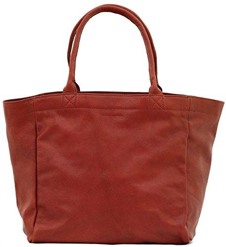 MON PARTENAIRE M Brun cabas en cuir sac à main style vintage PAUL MARIUS