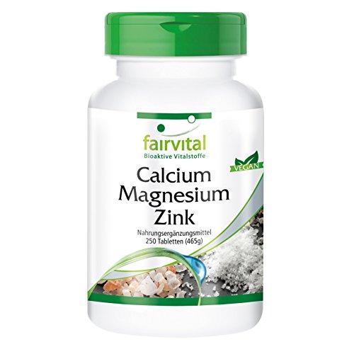 Calcio Magnesio Zinc - VEGANO - dosis alta - 250 comprimidos - minera
