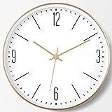 MingXinJia Relojes de Pared Relojes de Exterior Sala de Estar Dormitorio Reloj Mudo Novela Creativa Reloj Circular, d