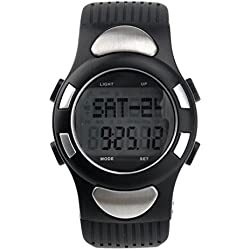 Pixnor® Digital Heart Rate Wrist Watch with Pedometer /Alarm /Calendar /Calorie Counter /Stopwatch /EL Backlight