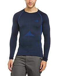The North Face M Hybrid L/S Crew Neck - Camiseta para hombre, color azul, talla ML